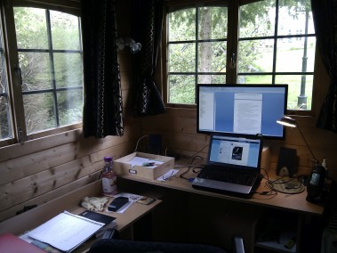 The writing cabin!