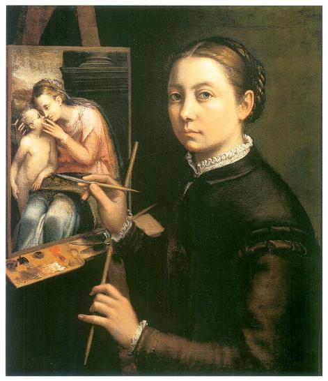 self-portrait-at-the-easel-sofonisba-anguissola